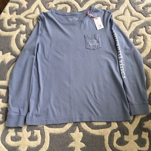 Vineyard Vines Womens Small Long Sleeve Pocket Tee